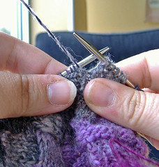 Wrapping short-rows, yarn forward
