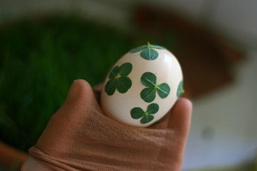 making a lucky clover egg