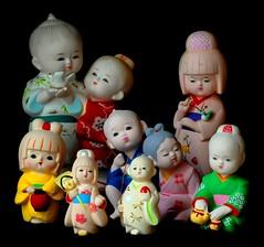 Japanese Hakata Dolls (davidwilliamreed) Tags: life light window colors japanese still nikon dolls bright d200 ih hakata
