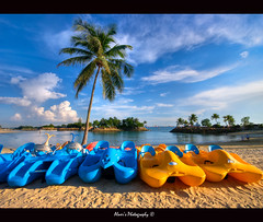 """Summer Time @ Siloso Beach"" :: Sentosa Singapore - Vertorama (alner_s) Tags: life park blue sea sky people love beach boat photo sand nikon singapore rocks you inspired sigma 1020mm sentosa hdr d60 sigma1020mm love nikond60 flickrsbest seloso alemdagqualityonlyclub"