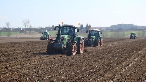 Pokazy polowe, orki - ciągniki, traktory rolnicze FENDT