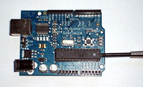 Removing the ATmega chip