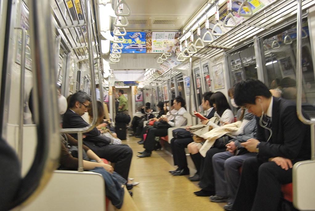 Durmiendo en la Yamanote
