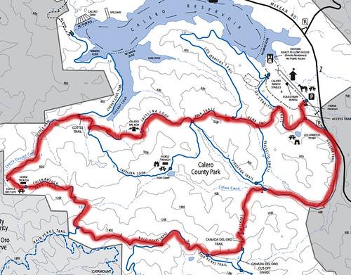 Calero Hike map