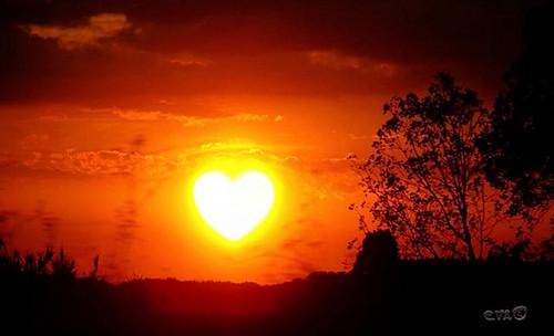 Love Heart Sunset. heart-sunset
