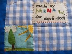 label-detail (monaw2008) Tags: quilt handmade swap patchwork applique dollquilt monaw monaw2008 dqs6