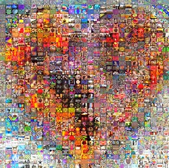 Big Heart of Art - 1000 Visual Mashups (qthomasbower) Tags: pink light red two color art love rose collage composite hearts heart mosaic modernart mashup arts photomosaic valentine valentines valentinesday heartshape redflowers bigheart happyvalentinesday heartofart visualmashups 1000visualmashups qtbowerpbsangaroon bigheartofart