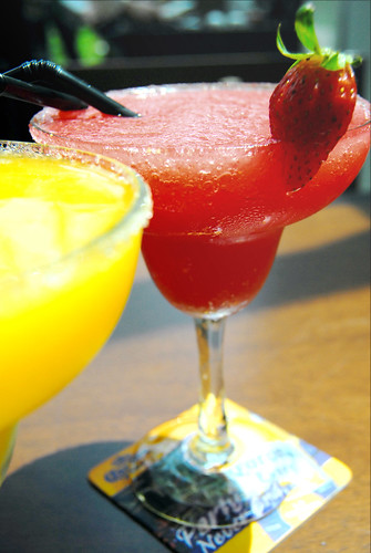 colorful margarita drinks