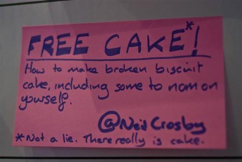 Free cake!