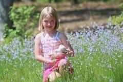 sweet girl in meadow