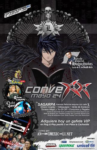 Cartel para la 20va Convención de Anime Mexicali