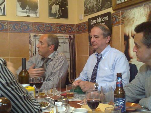 Josu Erkoreka e Iñaki Anasagasti durante la comida de hoy en Madrid