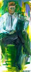 De Kooning, Elaine (1918-1989) - 1963 Portrait of John F. Kennedy (Smithsonian National Portrait Gallery) (RasMarley) Tags: female smithsonian contemporaryart president american painter expressionism 1960s 20thcentury ruler kennedy 1963 dekooning smithsoniannationalportraitgallery elainedekooning portraitofjohnfkennedy
