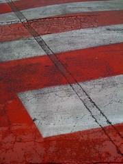 STRIPES (RENATO LUCHINI PHOTOGRAPHER) Tags: cameraphone life street red urban white apple rain lens toy flickr time stripes 3g napoli rosso bianco citta iphone strisce luchini