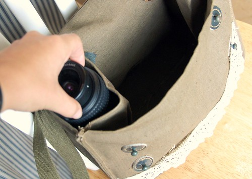 new (upcycled) camera bag - inside pockets