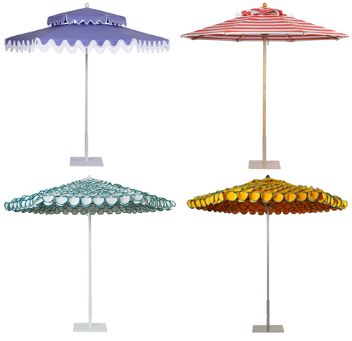 Exceptionnel Colorful And Frilly Outdoor Umbrellas