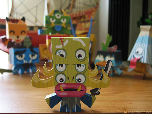 Japanese Monster Papercrafts - Shu no bon