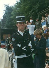 French MP (shiilo75) Tags: old berlin film germany french deutschland candid military 1988 police parade mp tiergarten strassedes17juni alliedforces gendarmerienationale marchausse pandores