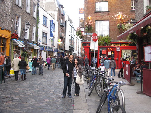 Dan and Me at Temple Bar area in Dublin by you.