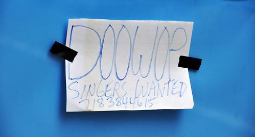 Doowop Singers Wanted