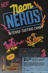 Neon Nerds Candy Rebate Offer (1993) (daniel85r) Tags: candy nerds wonka 90s rebate comicbookads