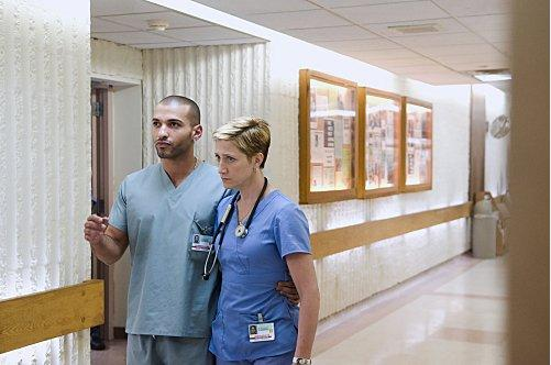 Haaz Sleiman and Edie Falco in Nurse Jackie