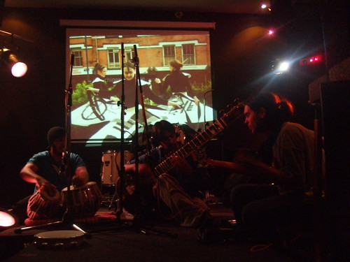 Rohits band with visuals from Chromatouch of the Performers