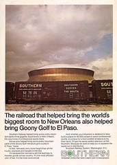 Trains Magazine, August 1975 (mod as hell) Tags: southern 1975 superdome goonygolf trainsmagazine 1970sads