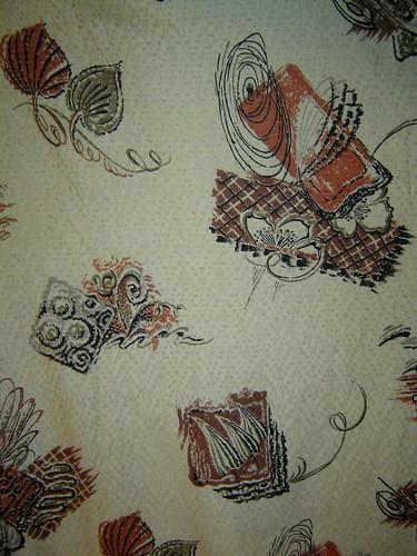 1950's Drapery Panels - Closeup of Fabric