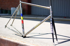 SOLD! LOOK KG 292 Titanium (mrjohan) Tags: look bicycle fork kg carbon straight titan titanium nos polished hsc 292 jalabert titane zlle hsc2