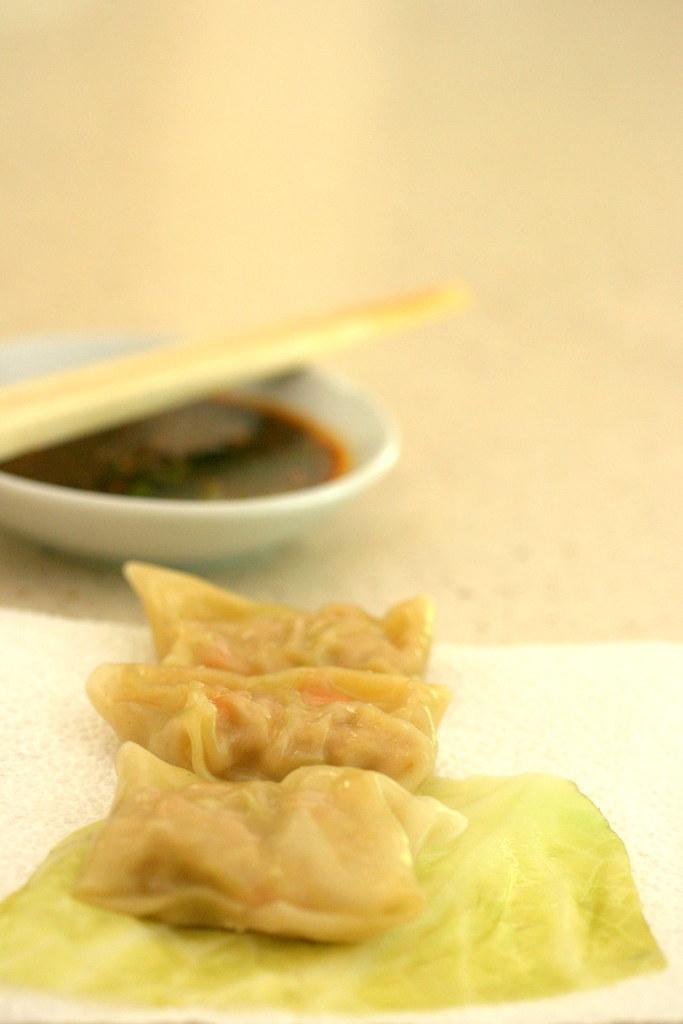 home-made steamed pork dumplings (Shiu Mai)