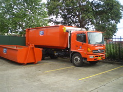 Doyle Bros Hook-Lift (AussieGarbo) Tags: trash truck garbage collection rubbish vehicle doyle waste skip recycling bros fm hino services rolloff marrell hooklift