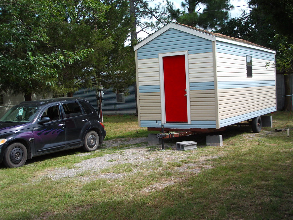 MicroHouse - Parked in Bonham, Tx