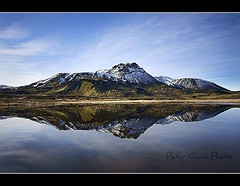 Two for the price of one (Ptur Gunn Photograpphy) Tags: two mountain reflection price one for photo iceland sland petur gunn fjall