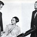 "Monty Clift, Olivia de Havilland and ralph richardson in ""The Heiress"". 1949"