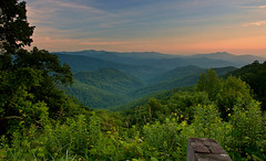 Unicoi Mtn Range at Sunset (Pheno Me Non) Tags: sunset sky mountain mountains nature beautiful clouds landscape landscapes nikon day scenic forests blueridgemountains appalachianmountains cherohalaskyway nantahalanationalforest cherokeenationalforest d90 scenicbyways unicoimountainrange pwpartlycloudy