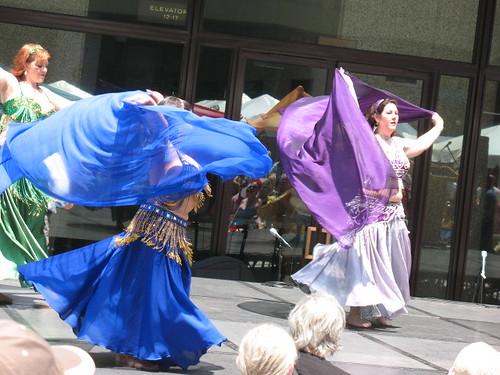 Dancers swirlilng