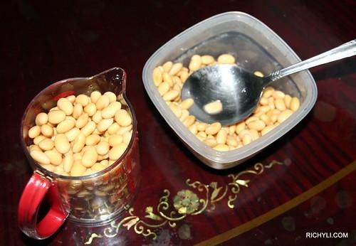 計算黃豆的量
