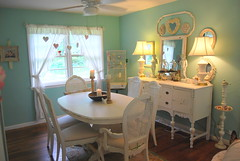 Thrift Store Dining room (thrifty_misspriss) Tags: white cane back chair furniture antique before thrift after thriftstore buffet chic distressed find chippy shabby redo whitedistressedpaintfinish