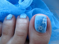 Pretty Blue Toes - Konad m64