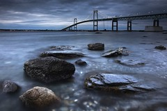 Jamestown Rocks (Philip Eaglesfield (Eggles)) Tags: longexposure ri usa rocks newengland rhodeisland newport jamestown newportbridge