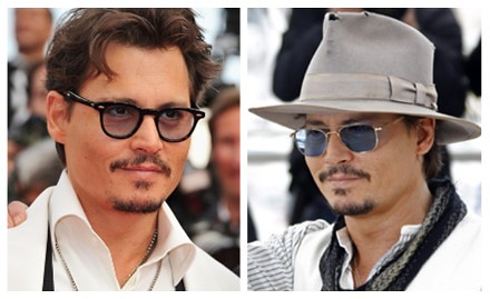 Johnny Depp fashion sunglasses at Cannes 2011