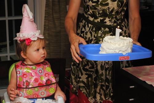 Lillian eyes up the cake