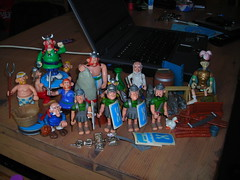 Cool Asterix & Obelix find at work... (harrycobra) Tags: toys thrift 80s actionfigures find obelix uderzo asterx
