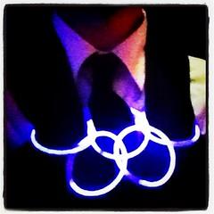 Olympic glowsticks at Jo's 40th, Trafford WA14