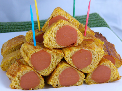 Oscar Party Food - Corn Dog Millionaire