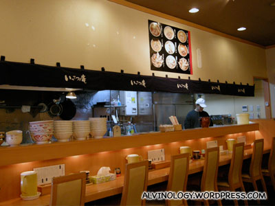 Inside the ramen restaurant