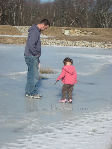 Checking out the ice