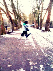 jump into freedom. (honeyy2) Tags: winter freedom jump allee