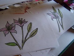lillies (lucky billie 84) Tags: drawing lillies crayolas